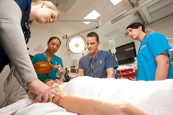 ED staff assess a patient at Gold Coast University Hospital